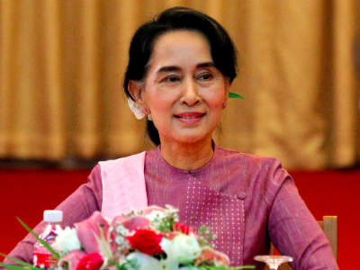 What could be the starry picture of the intriguing woman leader of Myanmar – Aung Sang Syuu Kyi?